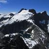 Llawrenny Peaks and Terror Lake from the summit of Terror Peak.