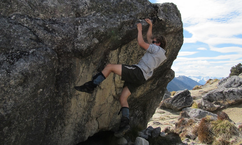 """""""Alexis dialing in the tricky crux beta before nailing the send."""""""