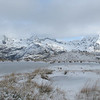 Frozen tarn in the basin below Ocean Peak.