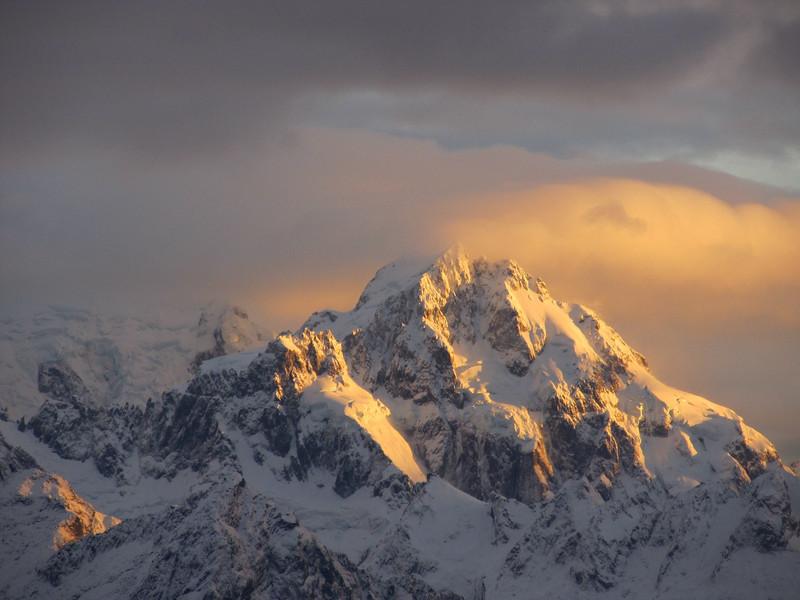 Sunrise on Mt Madeline.
