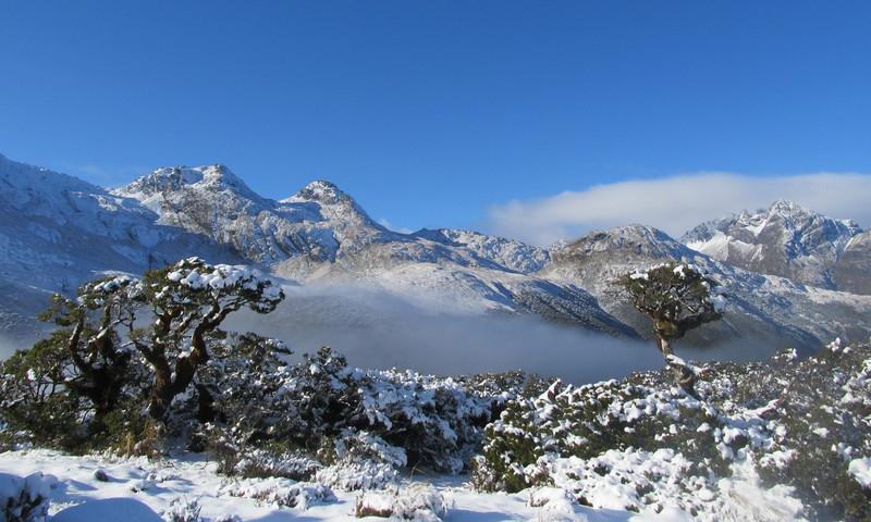 View from Key Summit to Jean  Batten Peak.