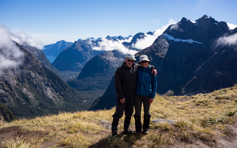 On Gertrude Saddle looking towards Milford Sound.