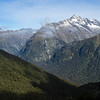 Ngatimamoe Peak, Flat Top Peak, Pyramid Peak and Mt Christina from the Routeburn Track.