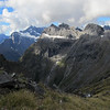View from Gertude Saddle: Underwood, Twins, Centinel (from left to right).