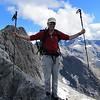 Aaron balancing on the ridge to Barrier Peak.
