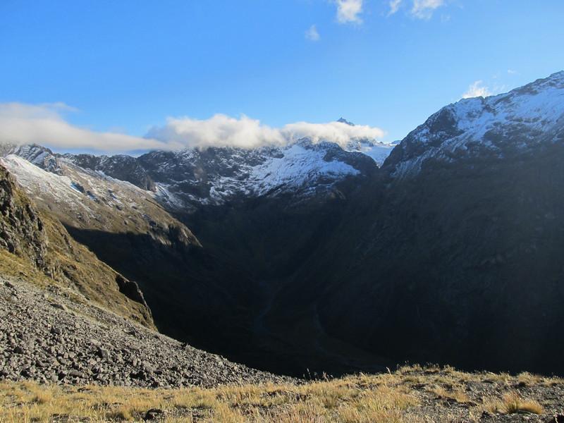 Head of Hut Creek with Flat Top Peak.