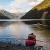 Early start to take advantage of a calm Lake Te Anau (photo - James Thornton).