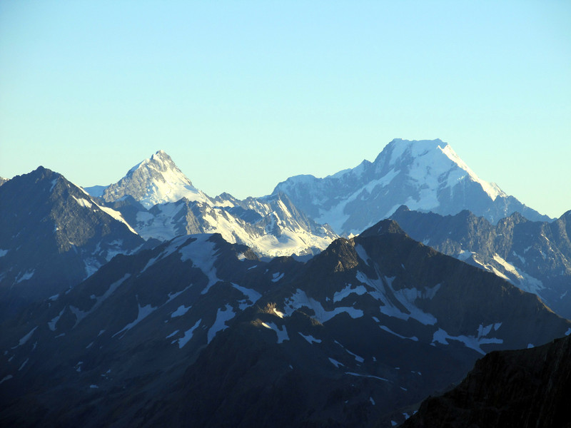 Mt Sefton and Mt Cook.