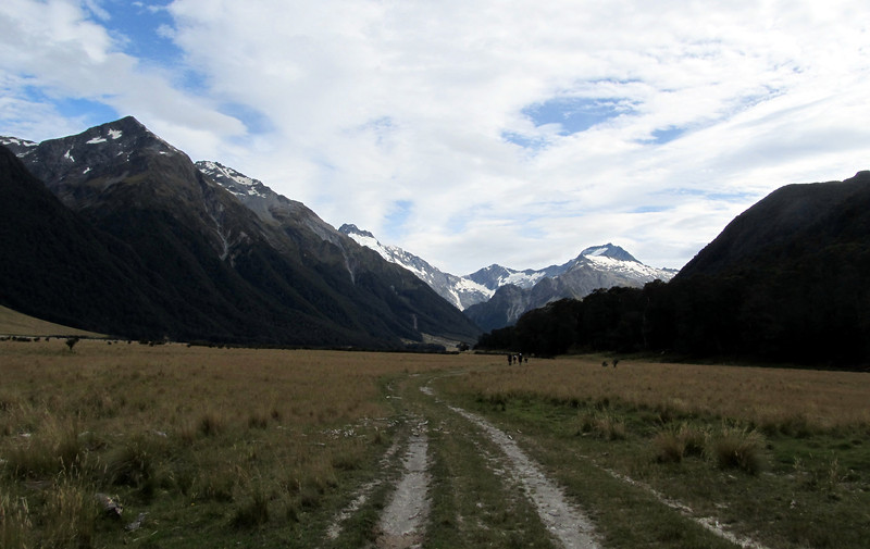 Plodding up the Hopkins. Elcho Pass in the centre, Ward on the right.