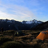 Enjoying the campsite, Mt Jackson right of the centre.