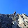 Merv coming down the North Ridge.