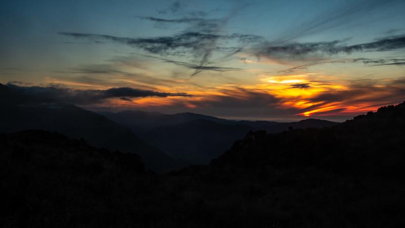 Sunset from near Bannock Brae.