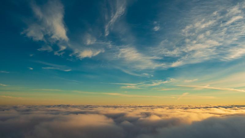 Cloud over the Tasman Ocean.