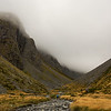 The valley between Abseil and College Peaks (photo - James Thornton).