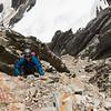 On the NW ridge of Strauchon (photo - James Thornton).