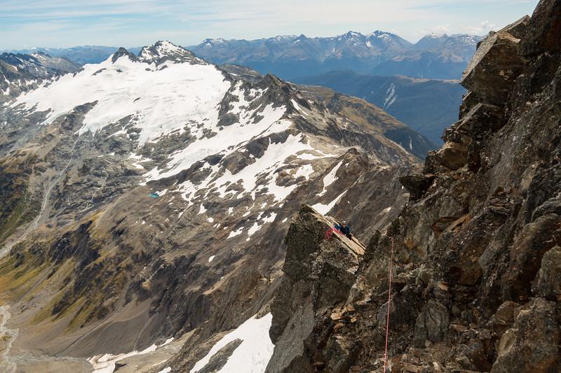 On the NW ridge of Strauchon, Hunter/Smyth glacier behind.
