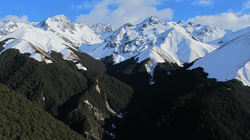 Maitland Valley. Elusive Peak on the left.