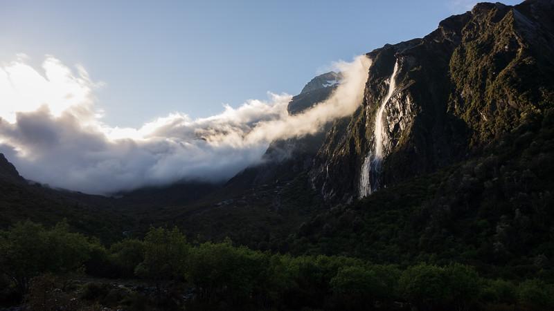 Cloud obscurring Mueller Pass.