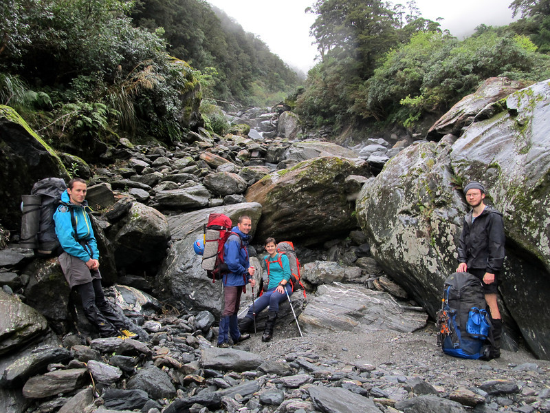 Further up the south branch of the Moeraki en route to Zeilian Pass.