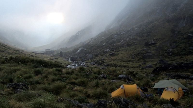 Our camp in the head of Zeilian Creek.