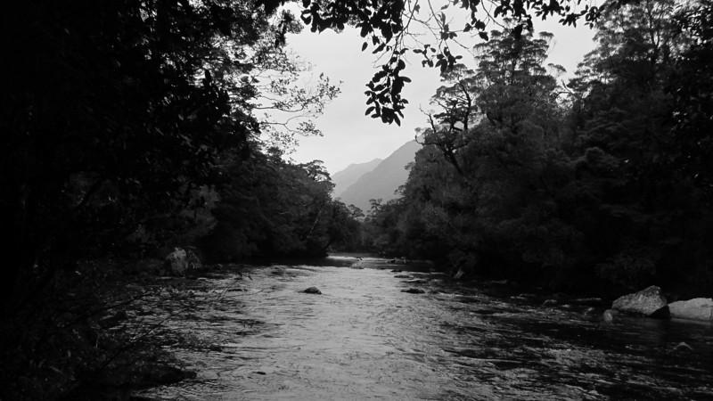 The picturesque Moeraki (Blue) River.