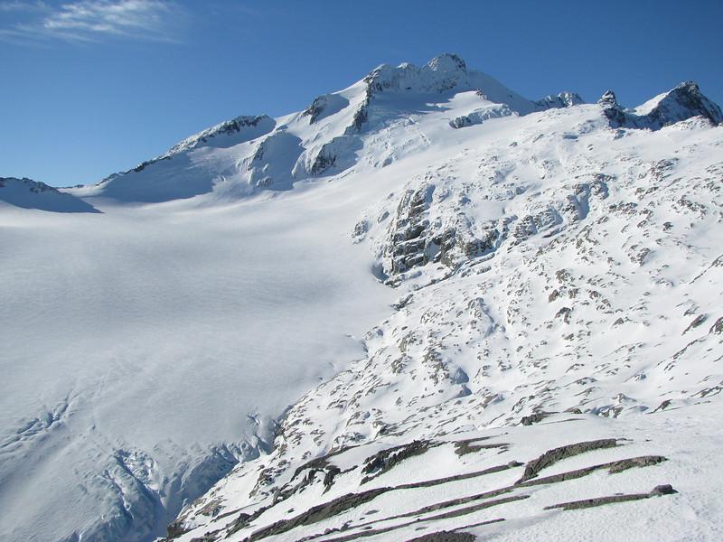Mt Brewster and the Brewster Glacier