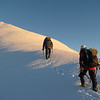 Danilo and Jaz ascending the East Ridge of Mt Brewster.
