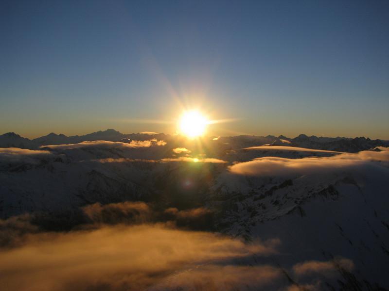 Sunrise from the East Ridge.