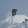 Jono on the West Ridge below the summit.