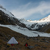 Our camp in the head of Thomson Stream on a previous attempt on Mt Browning over Labour weekend this year (24-25th Oct).