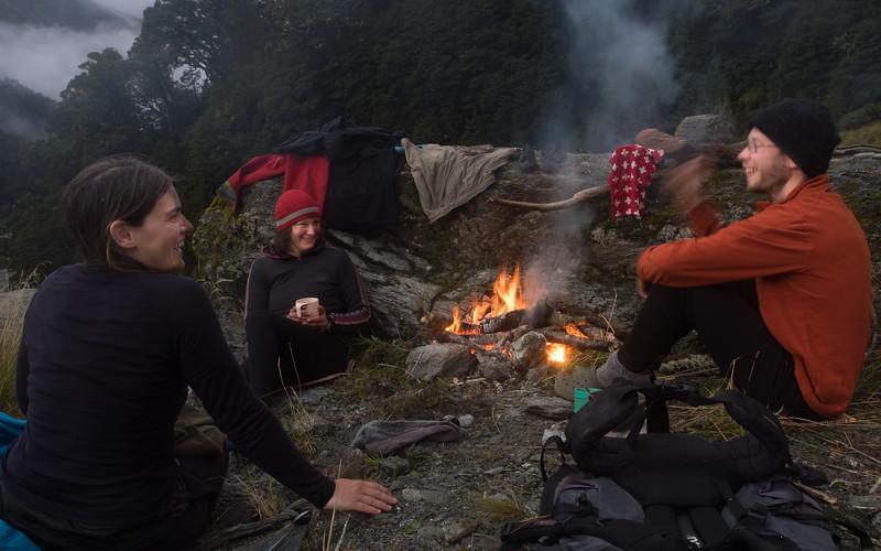 Campfire by Cheap Creek (photo - Neil Sloan).