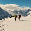 Great cloud spectacle over the divide on the way down.