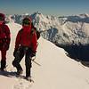 Allan and I on the summit of Glenisla (photo - James Thornton).