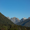 Mt Hooker behind the Strachan Range from Thomas Condon's farm.