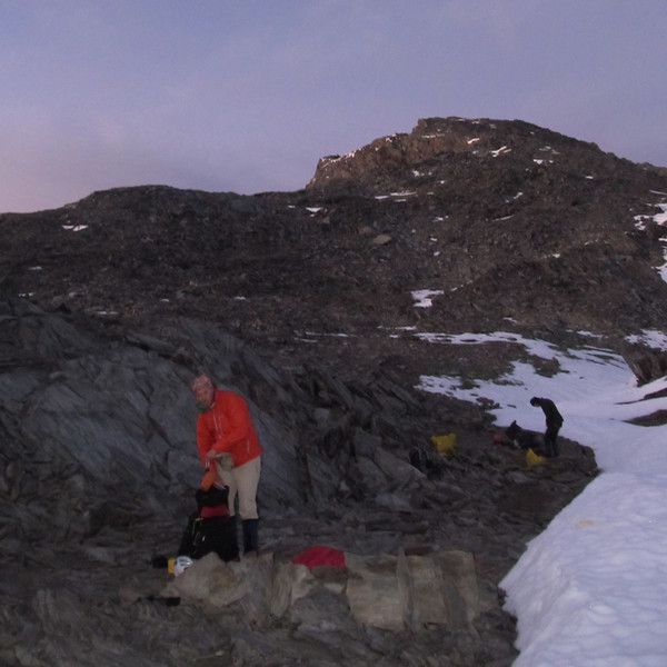 Bivvy site on Elcho Pass.