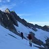 Aaron and James making their way towards the West Face of Mt Jackson.