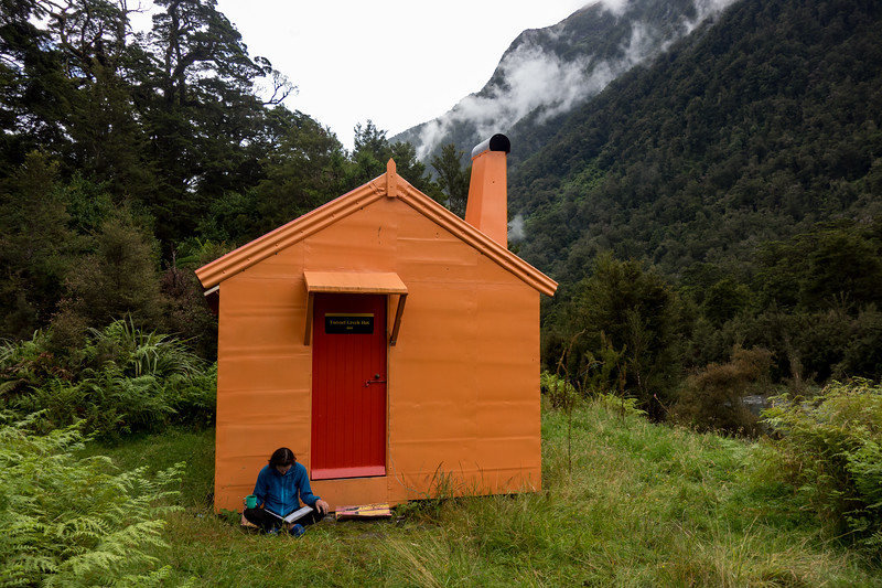Tunnel Creek Hut - a civilized way to start a trip to the Hooker/Landborough Wilderness Area and the hut was looking great thanks to Geoff, Liz and Co.