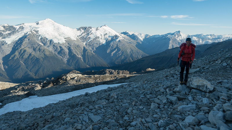 Heading for Elcho Pass, from left to right: Dechen, Strachan, Query and Doubtful and Fettes(photo - James Thornton).