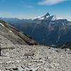 On Elcho Pass admiring views of Mt Hooker above the Solution Range (photo - James Thornton).