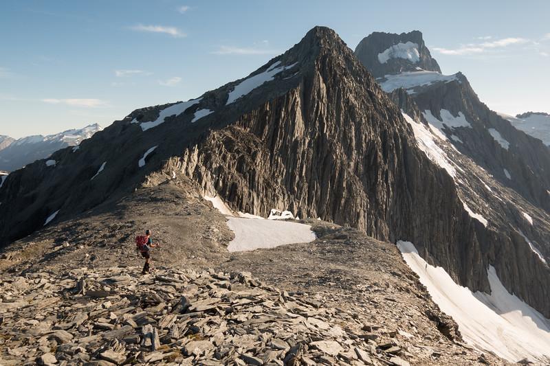 On Elcho Pass, Mt Ward above (photo - James Thornton).