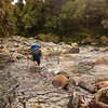 Crossing an unnamed side creek in the Paringa (photo - James Thornton).