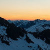 Towards Aspiring, Pollux, Castor, Alba and Munro at sunset.