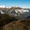 Looking down the Paringa, Weary Summit, Monro Peak and Eureka on the left.