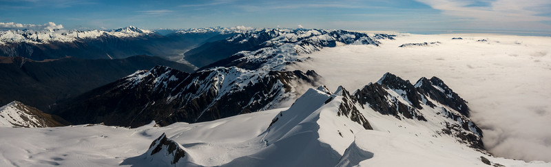 Haast Panorama from Mt McCullaugh.