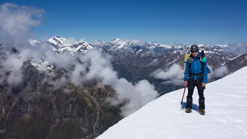 Me on the summit of McDonald, Dechen and Hooker on the left.