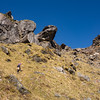 The final steep bit to gain the south ridge.