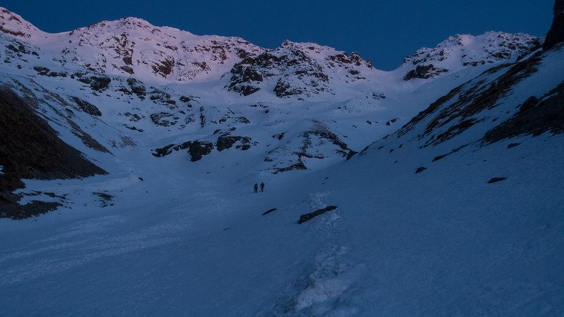 Dawn in the basin below Mt Peterson.