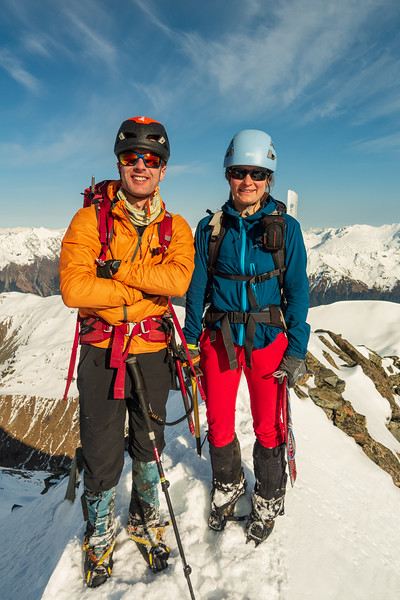 Jaz and I on the summit of Mt Peterson.
