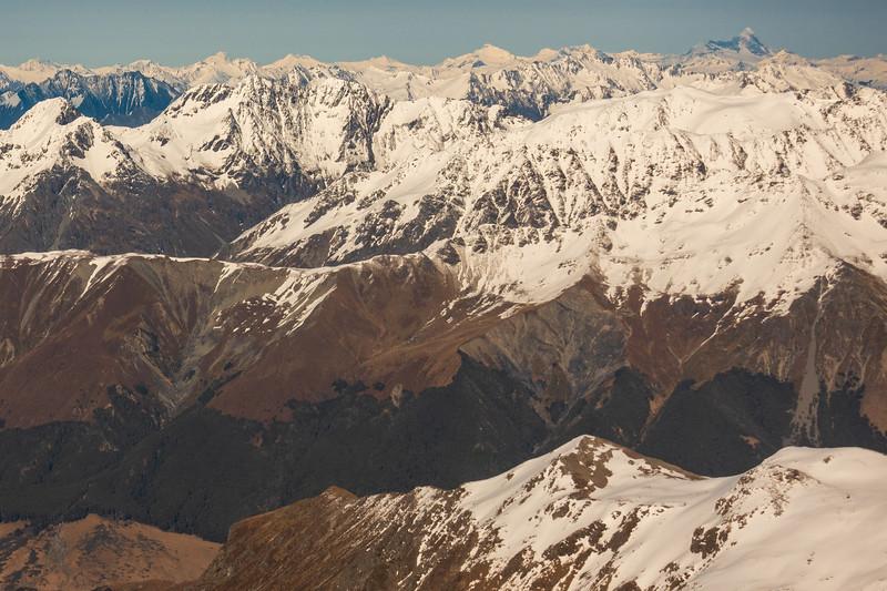 Towards Rob Roy, Avalanche and Aspiring.