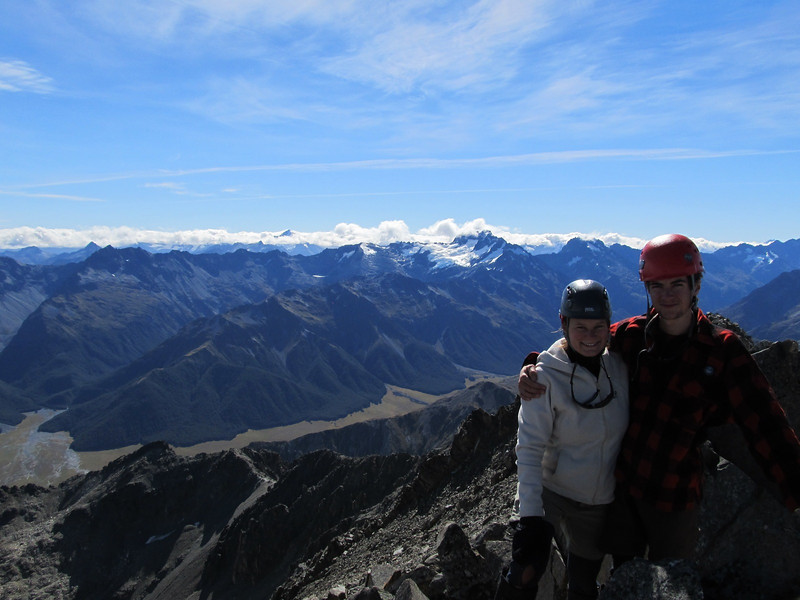 Jaz and I on top of Mt Saint Mary. Little Canyon Creek and Canyon Creek on the left, Mt Barth behind us.